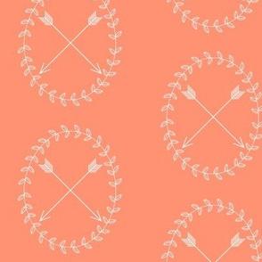 Arrow Wreath - coral