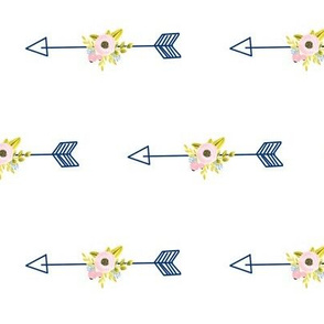 Floral Arrow - white