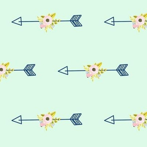 Floral Arrow - Mint