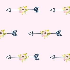 Floral Arrow - Light Pink