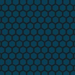 014 Metal mesh - blue steel
