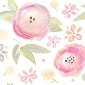 Watercolor Floral in Pink
