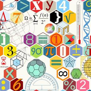 Math in color ( white )