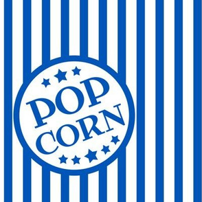 Fresh Delicious Popcorn (picnic blue, large)