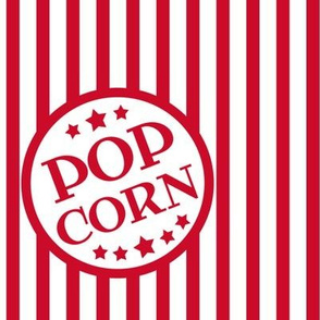 Fresh Delicious Popcorn (Christmas red, large)