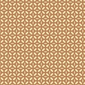 ellipse beige on brown