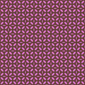 ellipse pink on brown