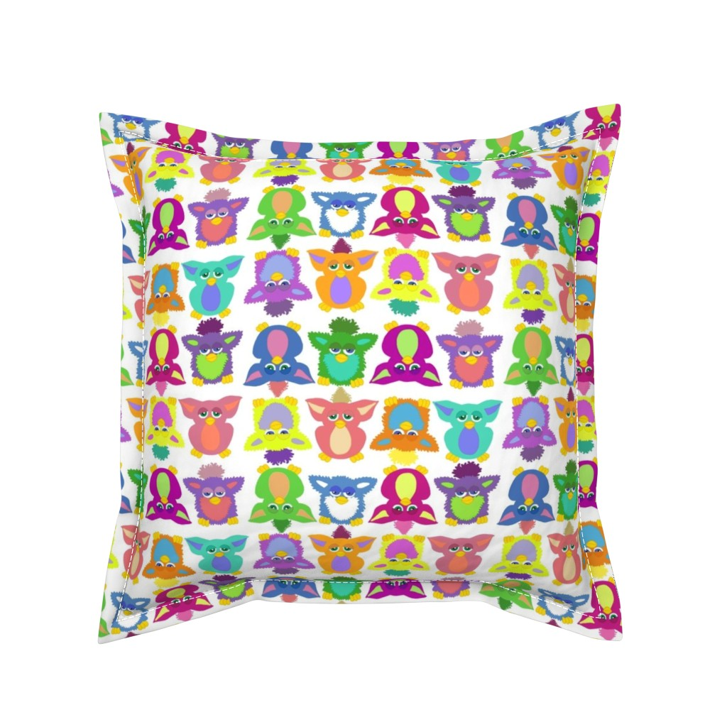 Serama Throw Pillow featuring Furby Frenzie - on white by designergal
