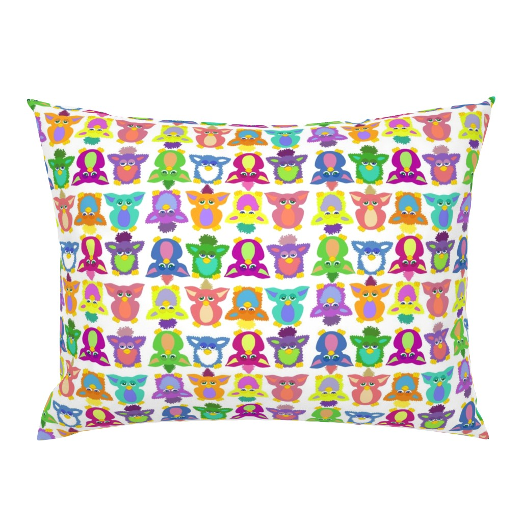 Campine Pillow Sham featuring Furby Frenzie - on white by designergal