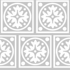 Geometric Floral Tile
