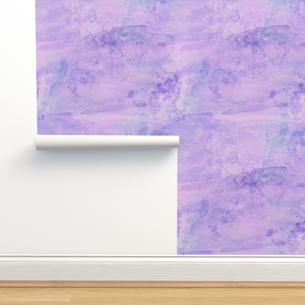 Isobar Durable Wallpaper featuring Purple Glacier Watercolor Paint Effect by pearl&phire