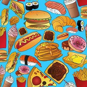 Copieux Pop Art Snack - blue
