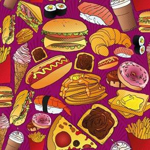 Copieux Pop Art Snack - purple damask