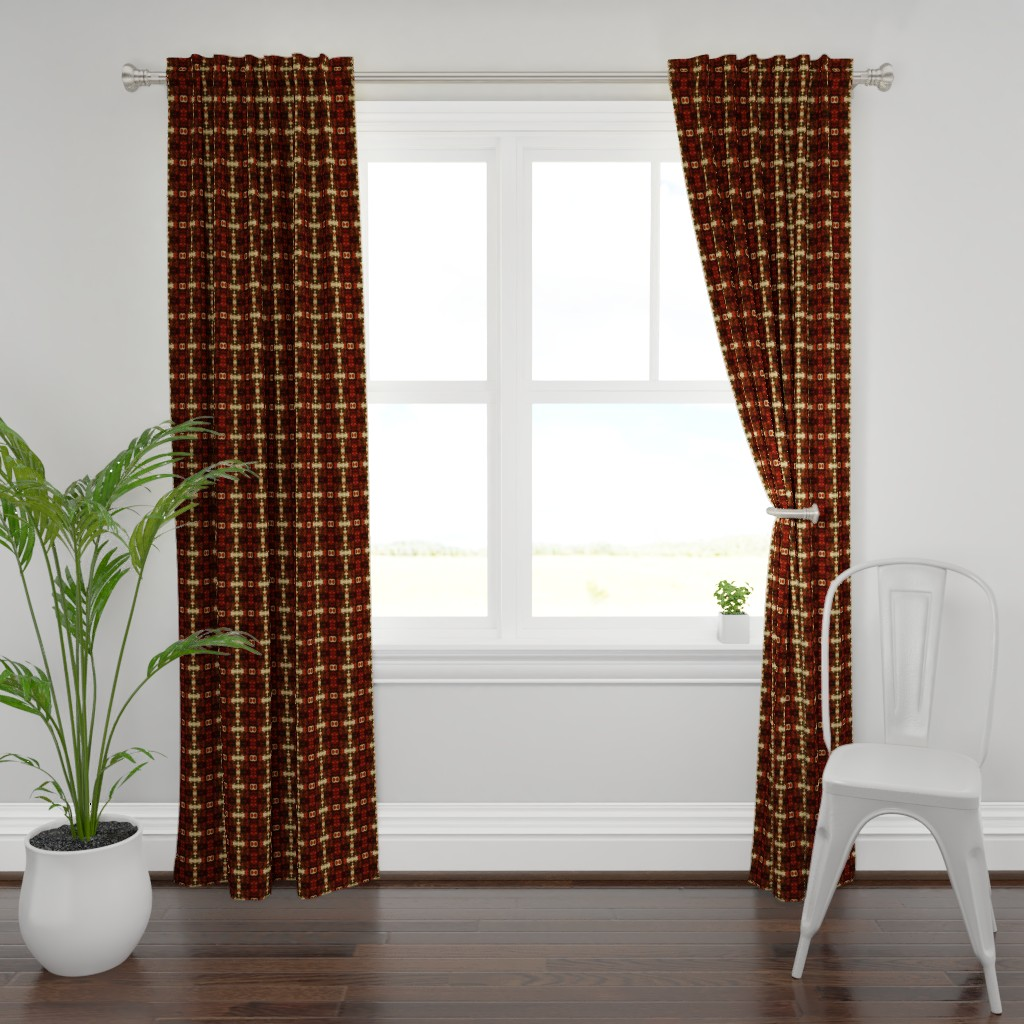Plymouth Curtain Panel featuring red_splot by skiles