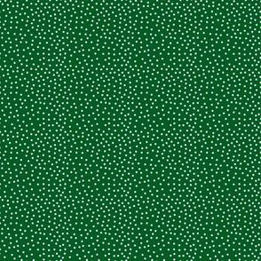 Tiny White Dots on Dk Hunter Green