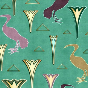 Ibis&Lotus (Green/Copper)