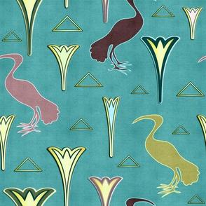 Ibis&Lotus (Blue/Gold)