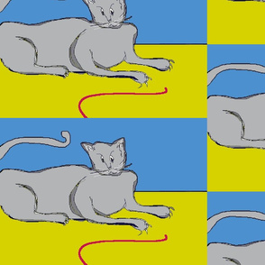 Playful Cat? - blue