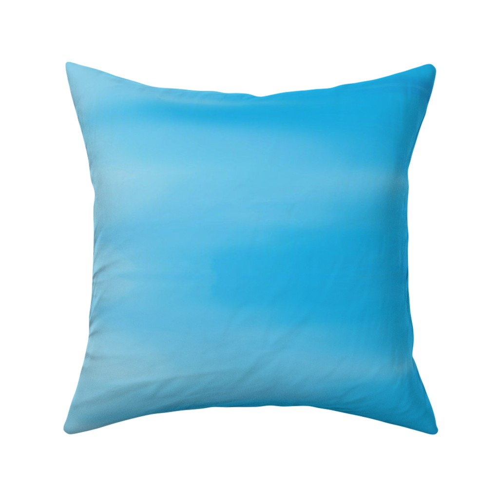 Catalan Throw Pillow featuring Aqua Blues Ombre Wave by designergal