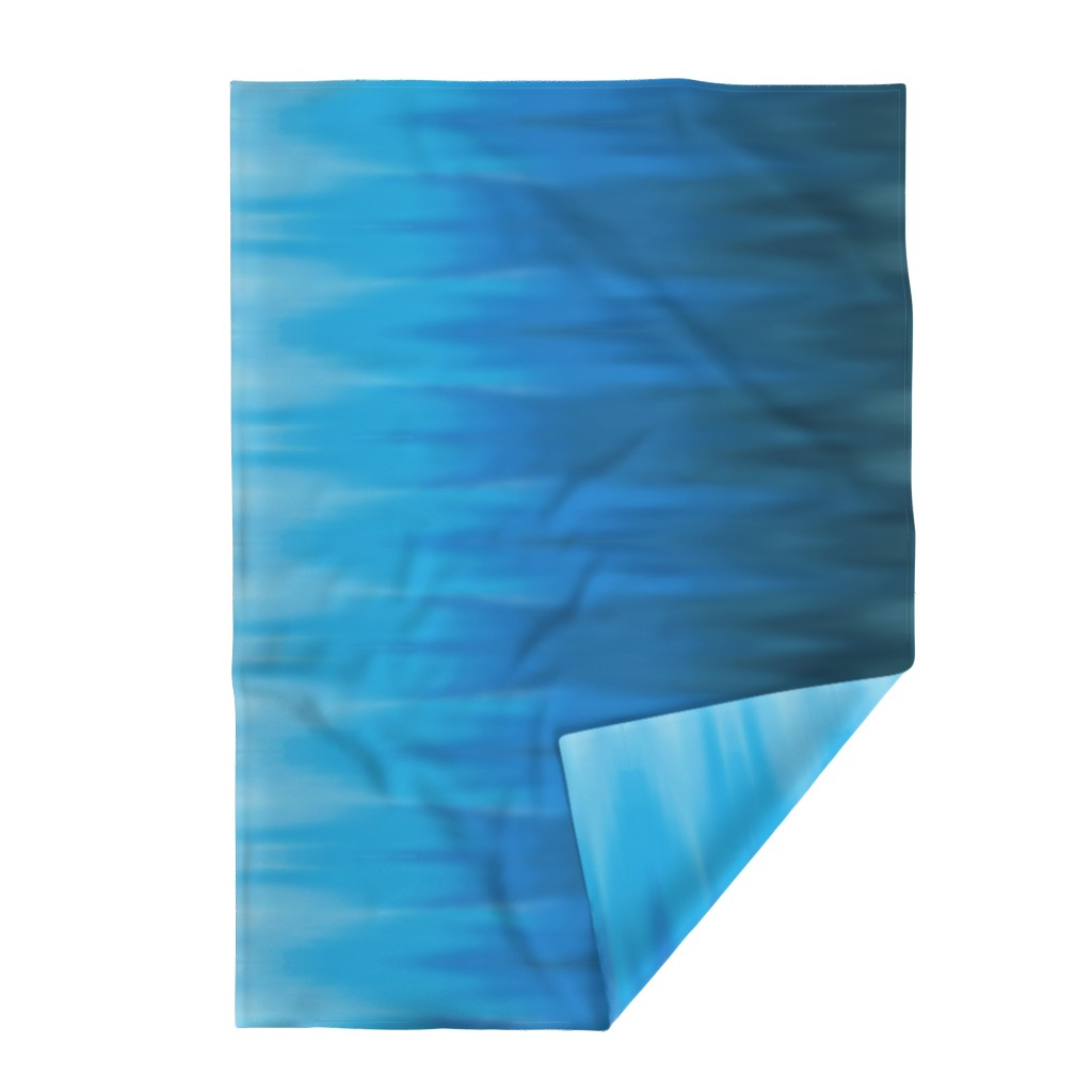 Lakenvelder Throw Blanket featuring Aqua Blues Ombre Wave by designergal