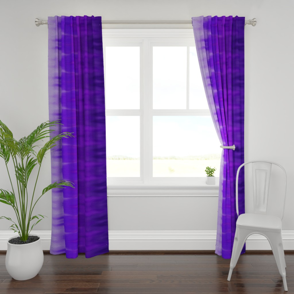 Plymouth Curtain Panel featuring Bright Violet Ombre Wave by designergal