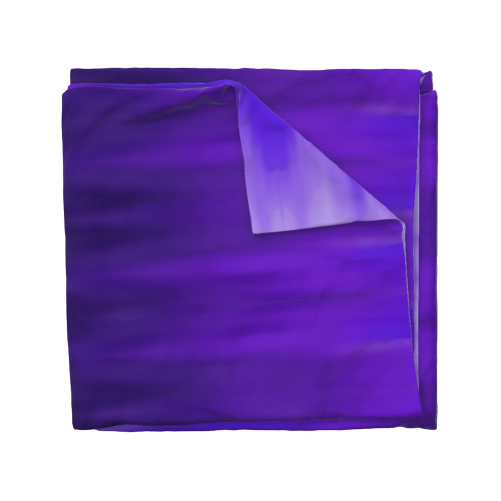 Wyandotte Duvet Cover featuring Bright Violet Ombre Wave by designergal