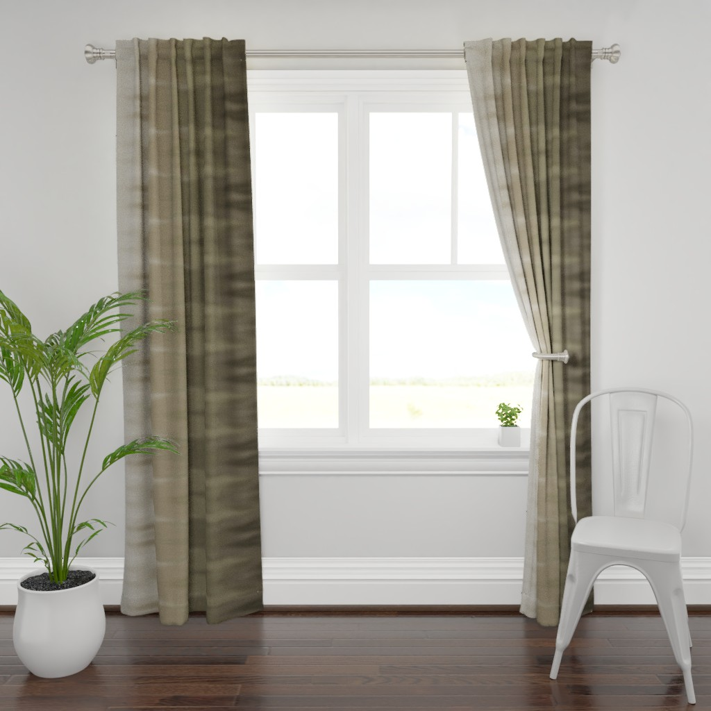 Plymouth Curtain Panel featuring Taupe Ombre Wave by designergal