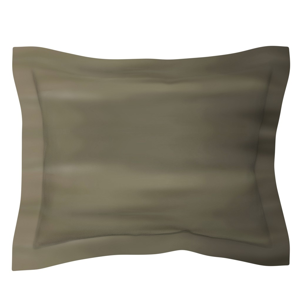Sebright Pillow Sham featuring Taupe Ombre Wave by designergal