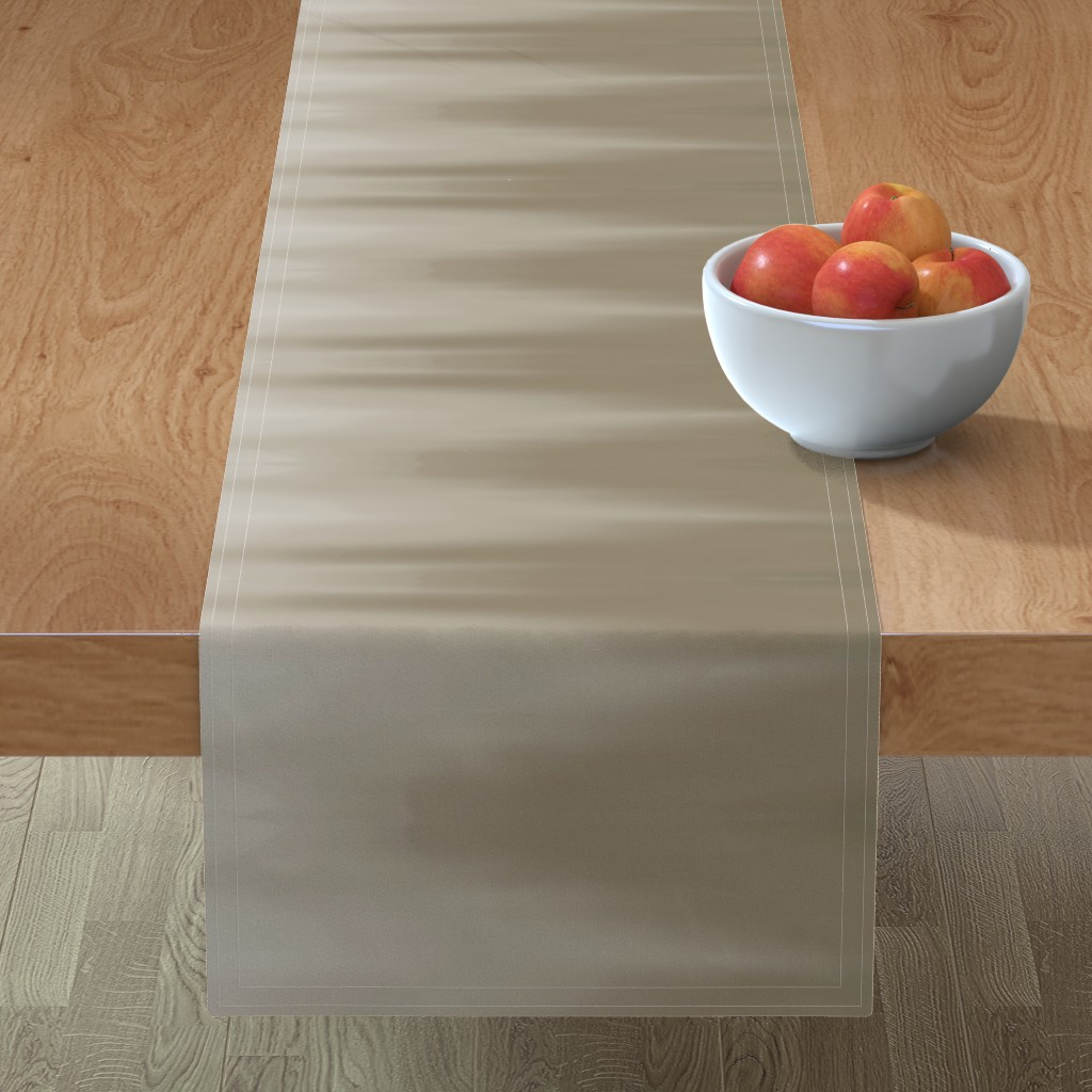 Minorca Table Runner featuring Taupe Ombre Wave by designergal