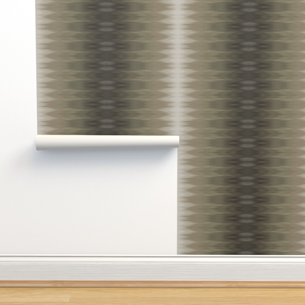 Isobar Durable Wallpaper featuring Taupe Ombre Wave by designergal