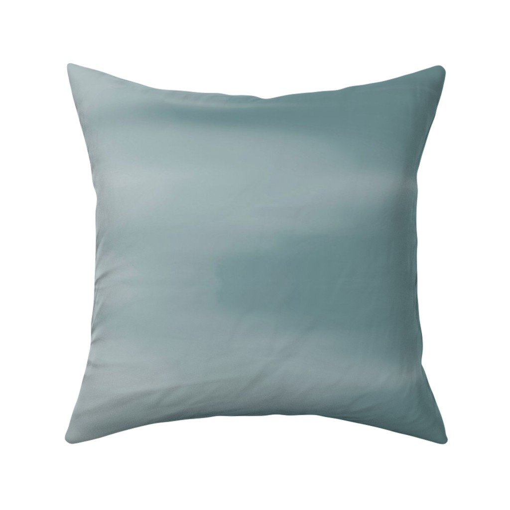 Catalan Throw Pillow featuring Muddy Teal Ombre Wave by designergal