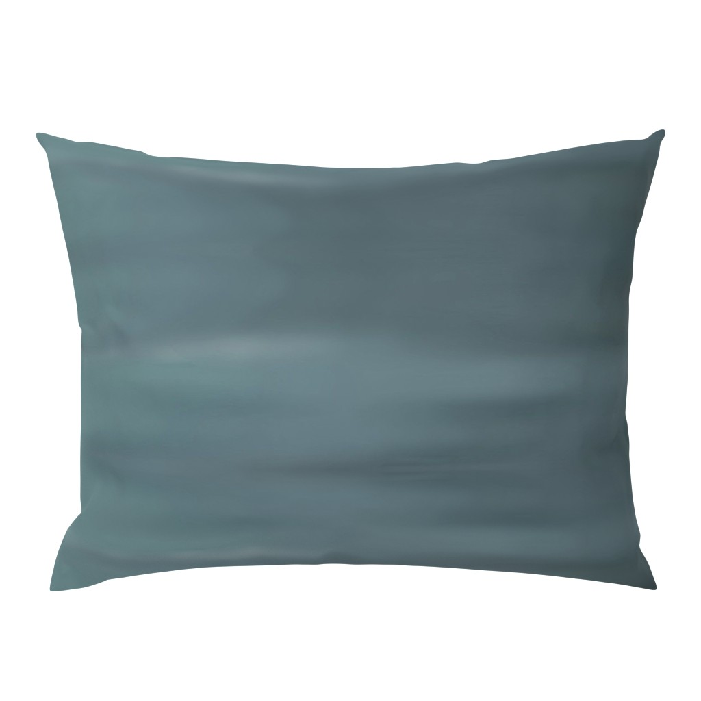 Campine Pillow Sham featuring Muddy Teal Ombre Wave by designergal