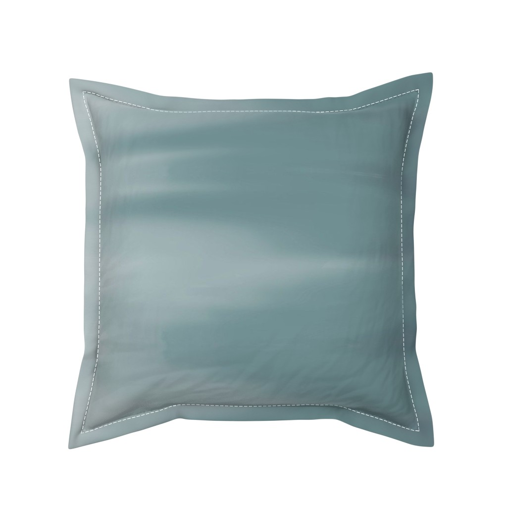 Serama Throw Pillow featuring Muddy Teal Ombre Wave by designergal