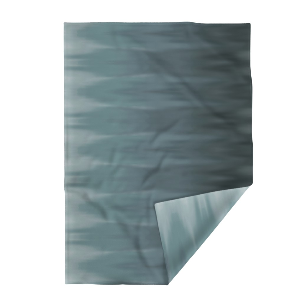 Lakenvelder Throw Blanket featuring Muddy Teal Ombre Wave by designergal