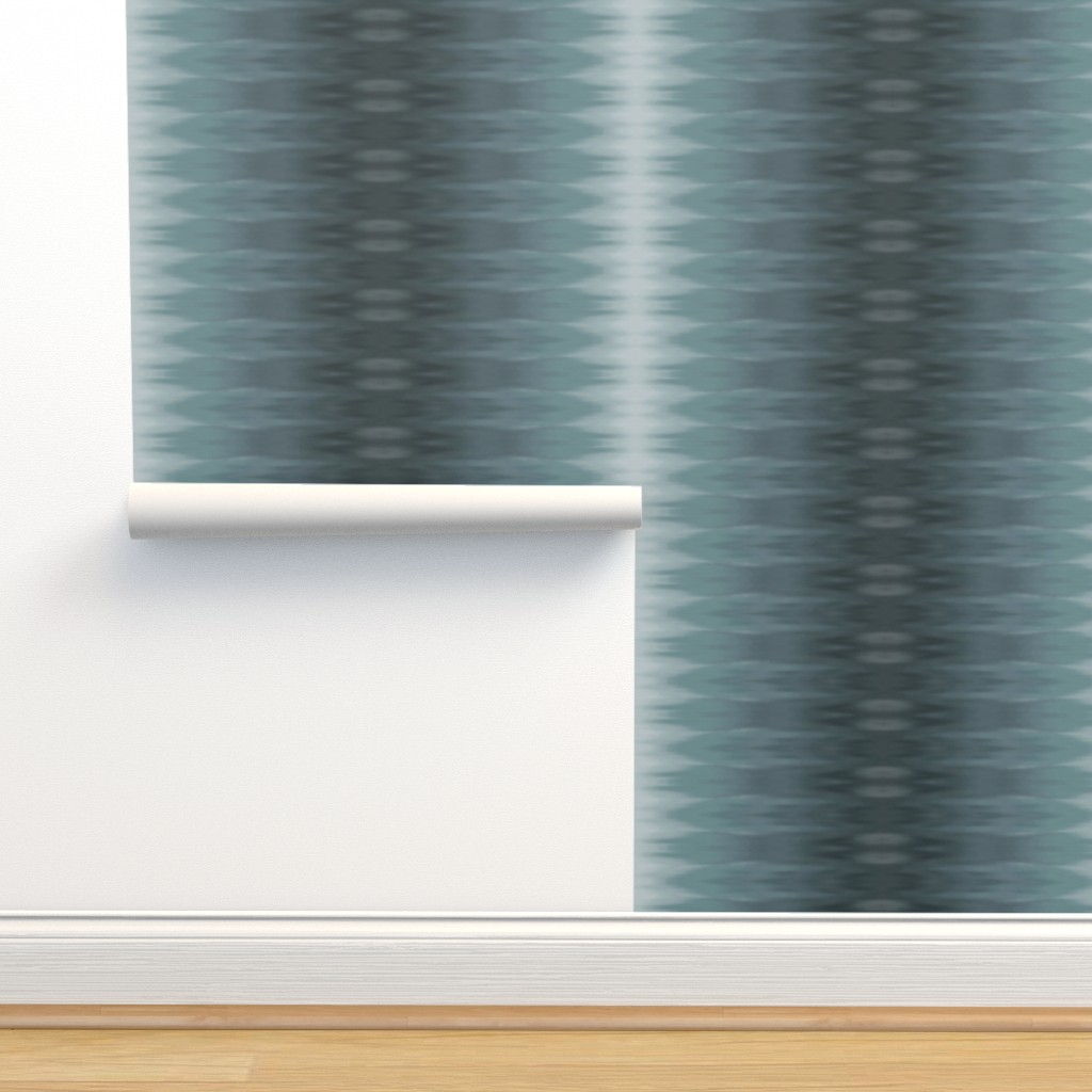 Isobar Durable Wallpaper featuring Muddy Teal Ombre Wave by designergal
