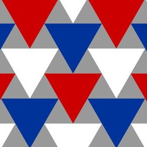 triangle 2:1 - blue white and red