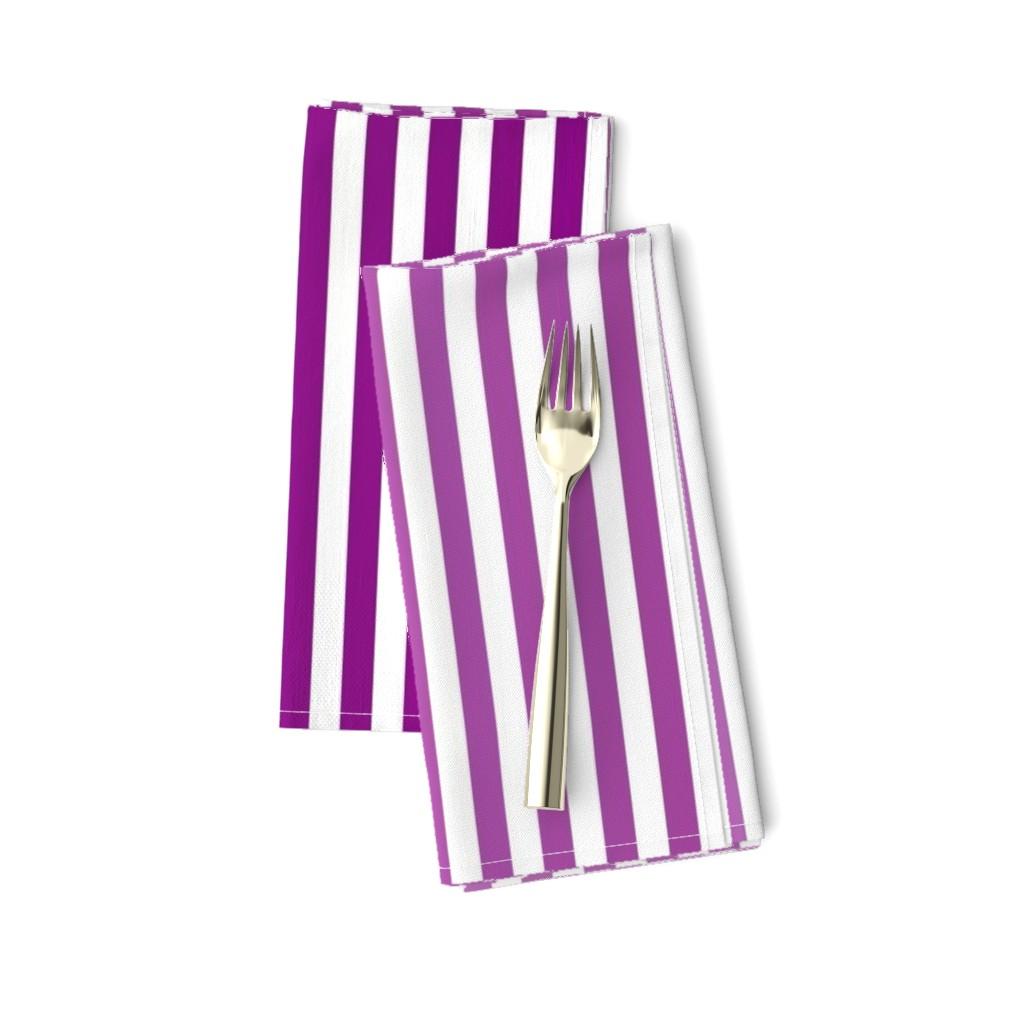 Amarela Dinner Napkins featuring Violet Ombre Stripe by designergal