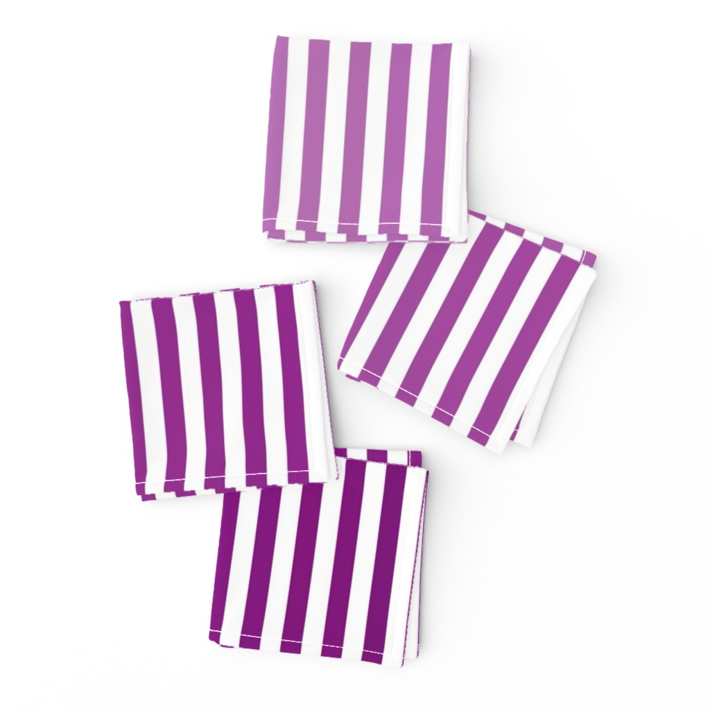 Frizzle Cocktail Napkins featuring Violet Ombre Stripe by designergal