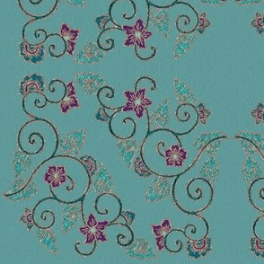 My-beautiful-corner-embroidery-pattern-SMALL-squared-MUTEDFEATHER2-lines-ALT3embroidery-colors-GREYGRNTURQPAPER-MGREYGRN3