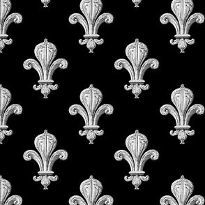 Fleur~de~Lys ~ Black and White