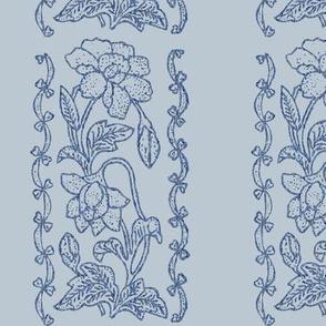 Blue-on-lt-grey- textured-floral-border