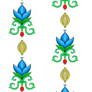 Flower Damask 2- Blue