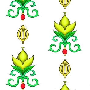 Flower Damask 2- Yellow