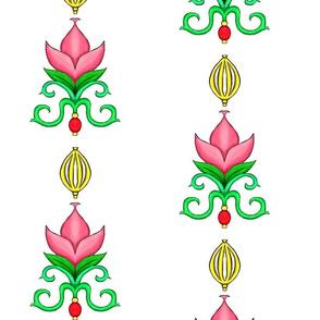 Flower Damask 2- Pink