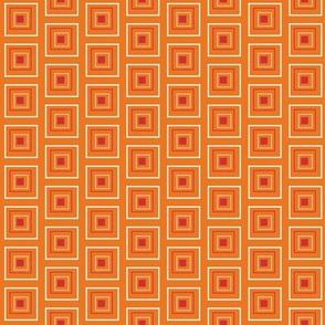 """Large Red & Orange 3/4"""" Squares"""