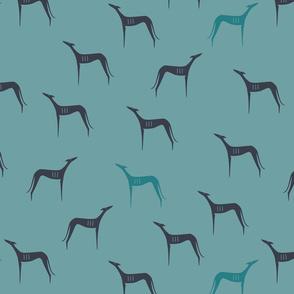 Greyhounds türkis