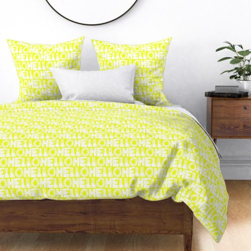 Colorful Fabrics Digitally Printed By Spoonflower Hello Mellow Yellow