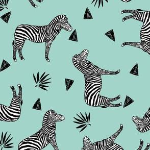 zebra // mint kids nursery baby zebras zoo safari animals sweet animal