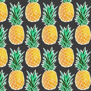 Tropical Geometric Pineapple - Dark Gray