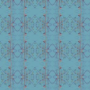 Birds & Branches (Oval Blue)